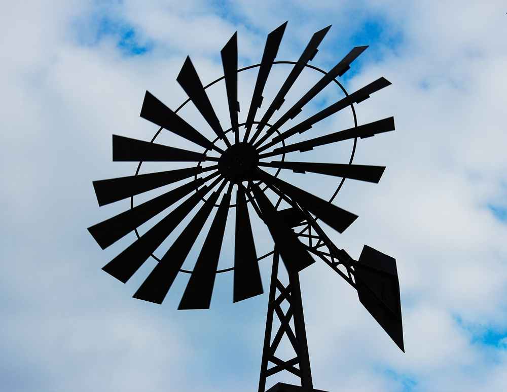 A farm windmill in rural Wodonga